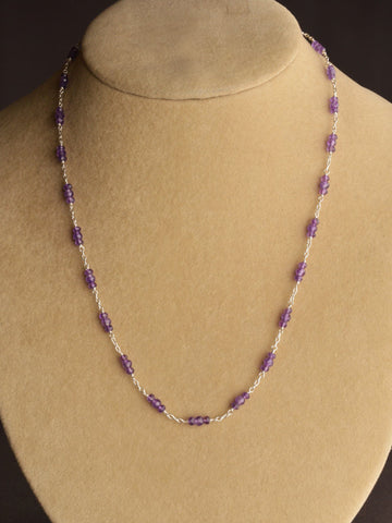 Amethyst Charm Necklace