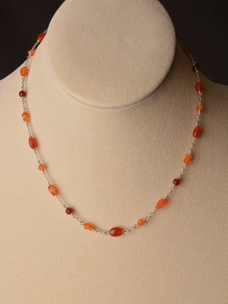 Carnelian Charm Necklace