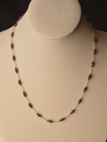 Starseed Pyrite Charm Necklace