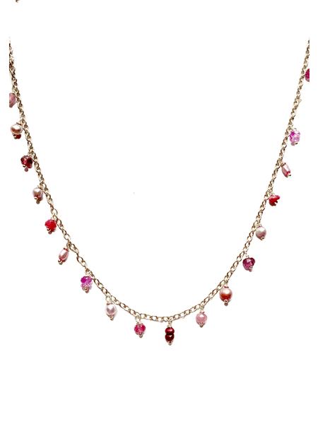 Blooming Heart Charm Necklace
