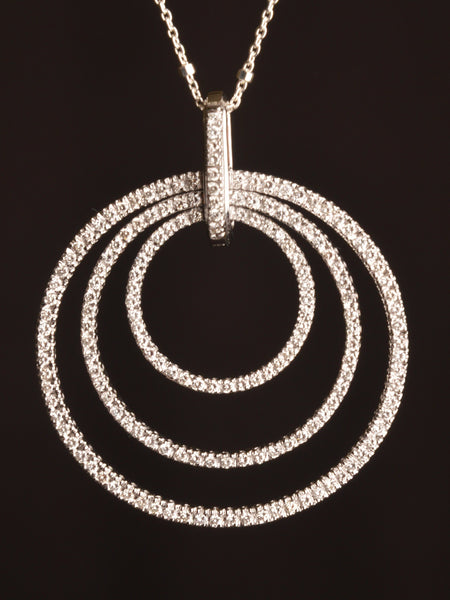 Concentric Circles Diamond Pendant