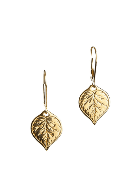 Aspen Leaf Earrings (Gold Vermeil)