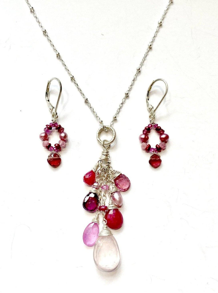 Blooming Heart Silver Gift Set