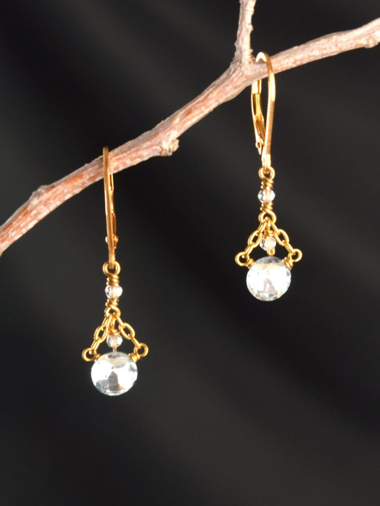 Sky Crystal Drop Earrings