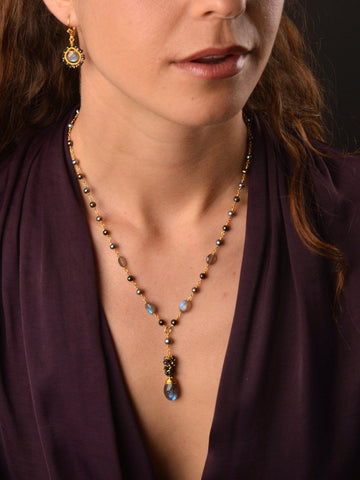 Starry Night Cluster Necklace