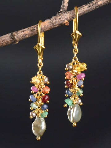Treasured Cluster Earrings