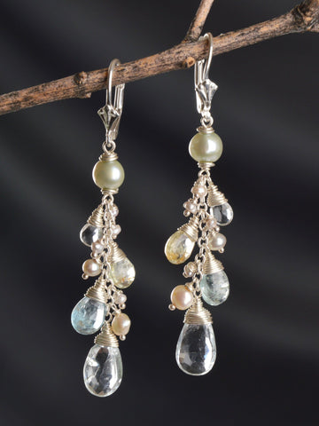 Galene Briolette Vine Earrings
