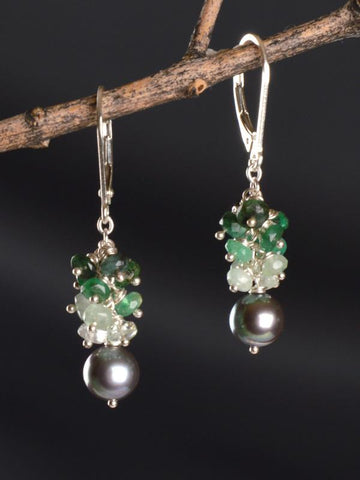 Beautiful One Cluster Earrings