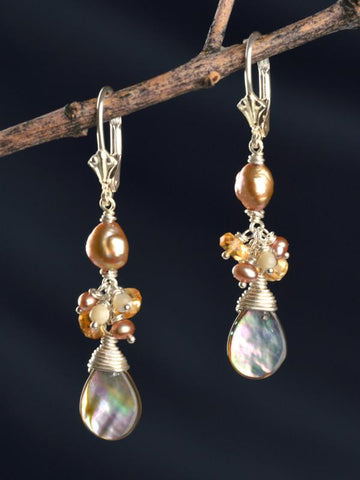 Eos Gemstone Cluster Earrings