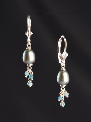 Kalani Pearl Cluster Earrings