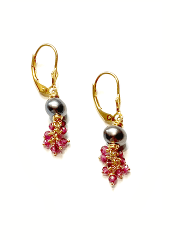 Desire Garnet Cluster Earrings