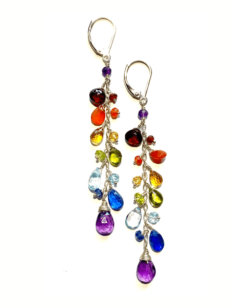 Paradise Long Cluster Earrings