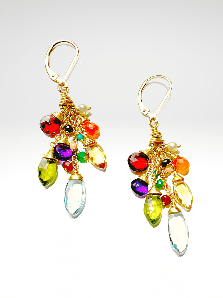 Paradise Cluster Earrings