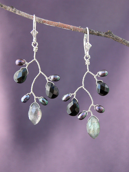 Dark Galaxy Branch Earrings