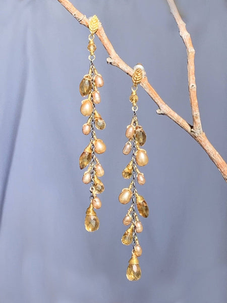 Eos Long Vine Earrings