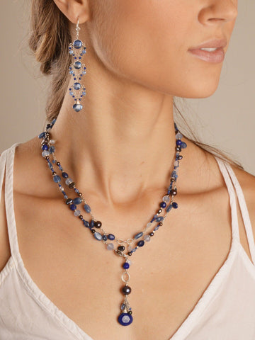 VINTAGE Asteria Royal Blue Lariat