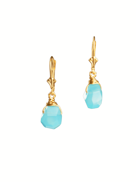 Chalcedony Fancy Drop Earrings