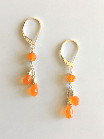 Carnelian Double Drop Earrings