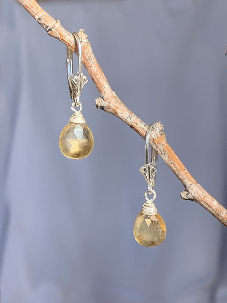 Eos Citrine Briolette Earrings