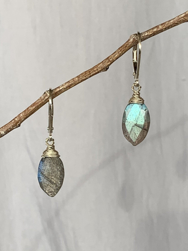 Labradorite Marquis Earrings