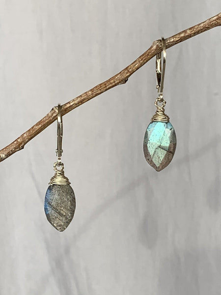 Labradorite Marquise Earrings