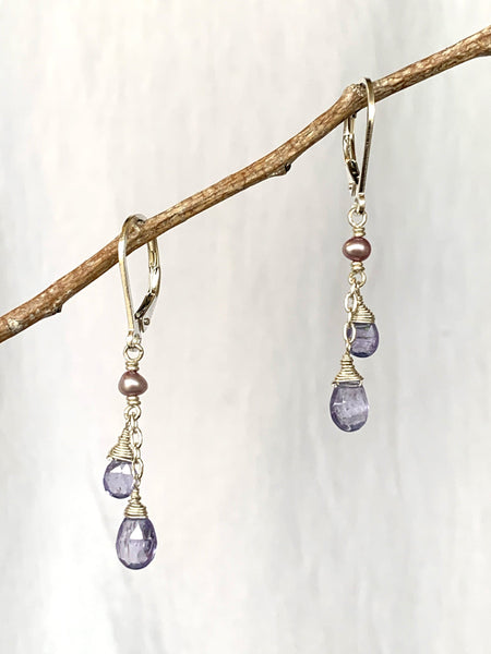 Watercolor Double Drop Earring