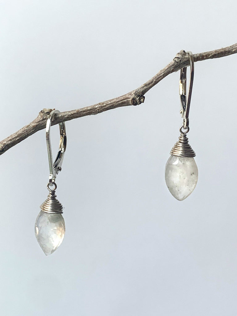 Moonstone Marquise Earrings