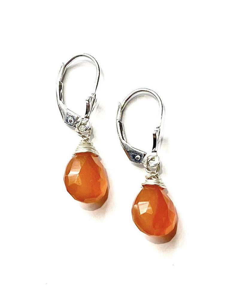 Carnelian Briolette Earrings