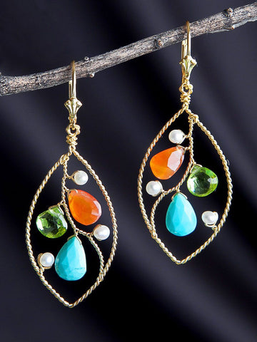 Anjali Marquis Hoop Earrings