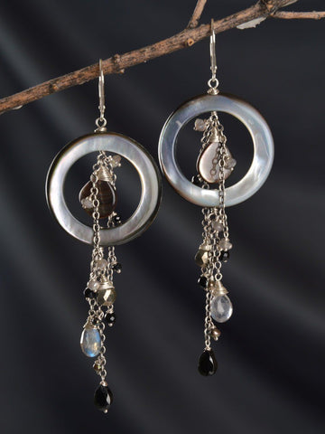Starry Night Cluster Earrings