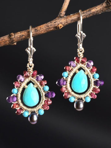 Sarasvati Mandala Earrings