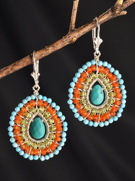 Sterling Silver Anjali Mandala Earrings