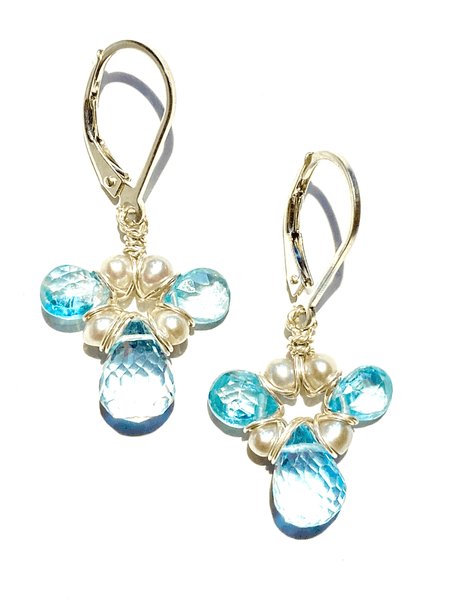 Sky Crystal Mini Hoop Earrings