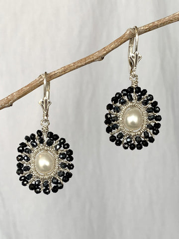 Moon Single Mandala Earrings