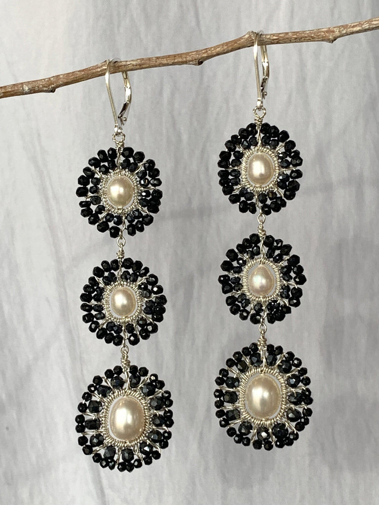 Moon Triple Mandala Earrings