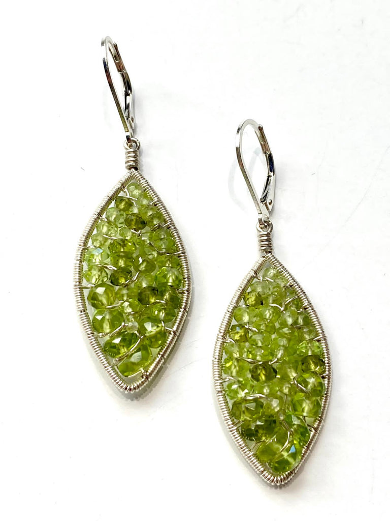 Peridot Woven Earrings