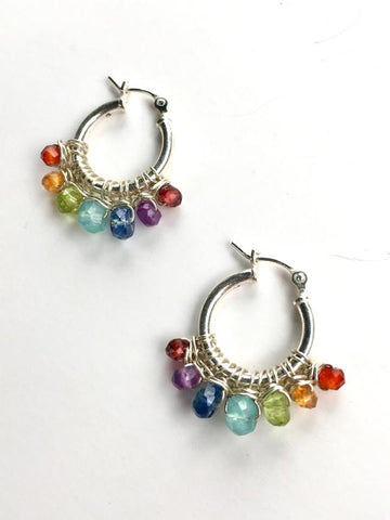 Paradise Rainbow Hoop Earrings