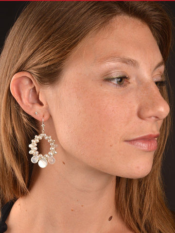Ethereal WovenHoop Earrings