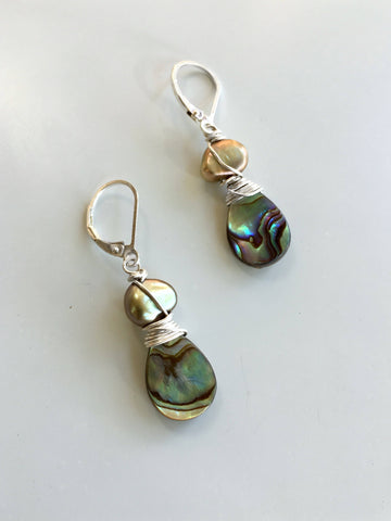 Dark Star Stacked Earrings