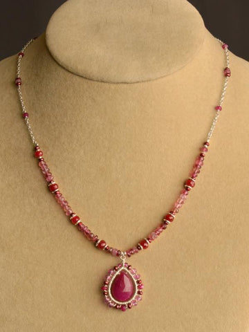 Lalita Ruby Mandala Necklace