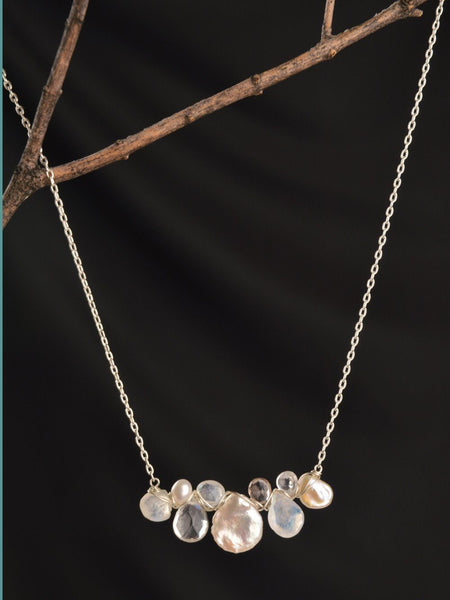 Ethereal Briolette Necklace in Silver