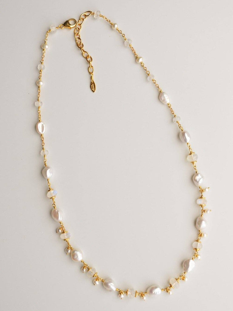 Ethereal Dainty Drop Necklace in Gold Vermeil