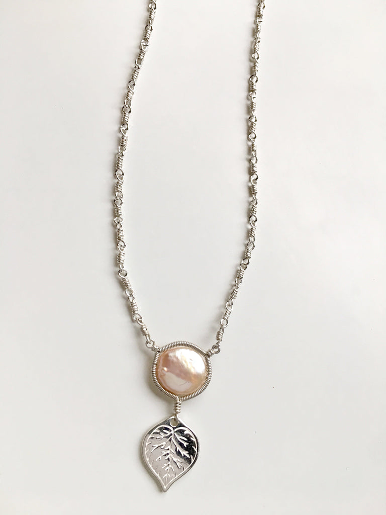 Aspen Pink Pearl Necklace