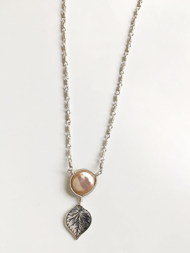 Aspen Golden Pearl Necklace