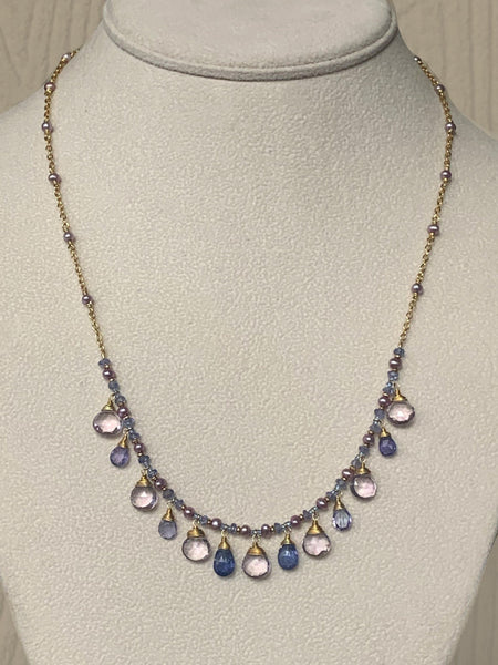 Watercolor Briolette Necklace