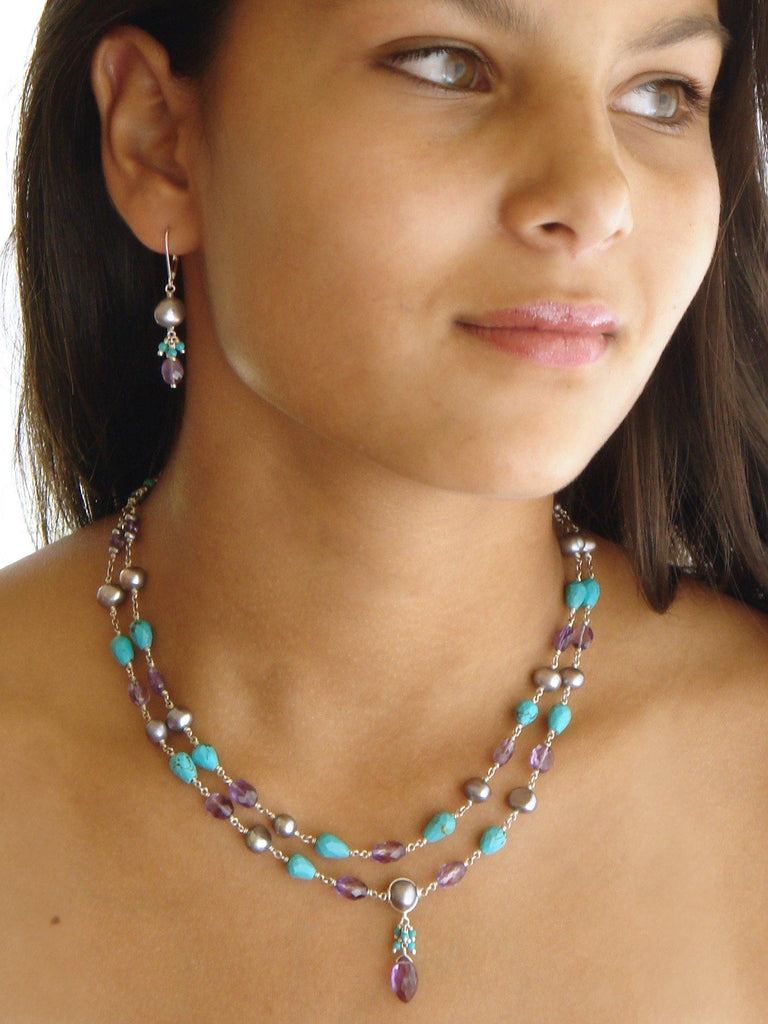Poetic Double Strand Necklace