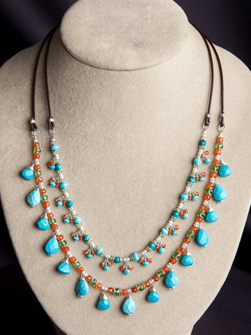 Anjali Multi Strand Necklace