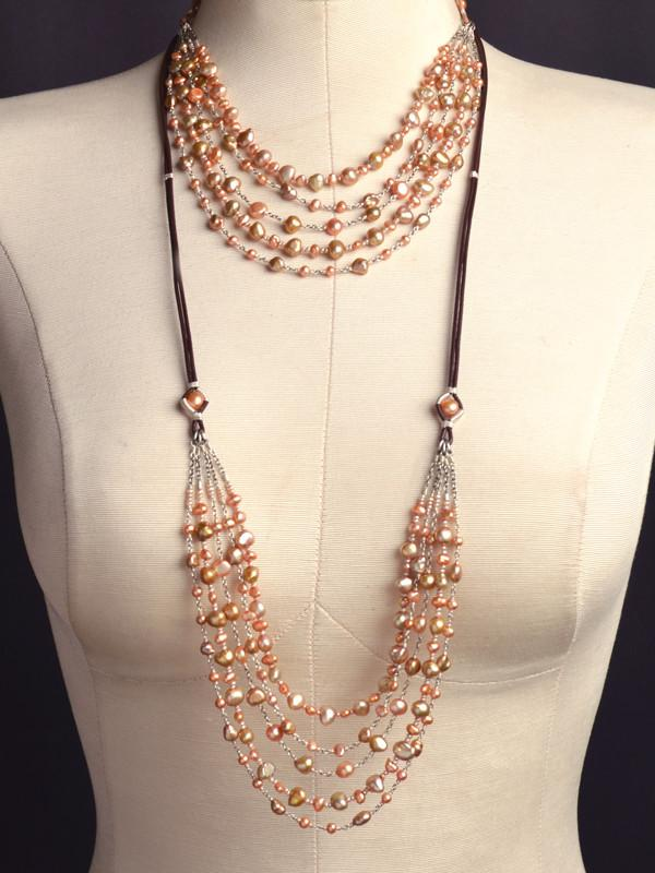 Eos 5-Strand Pearl Necklace