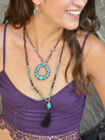 Sacred Earth Leather Necklace