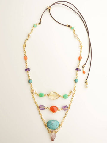 Cosmic Girl Ladder Necklace